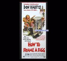 How to Frame a Figg 1971 Don Knotts Comic Image Daybill Orig Aust Movie Poster