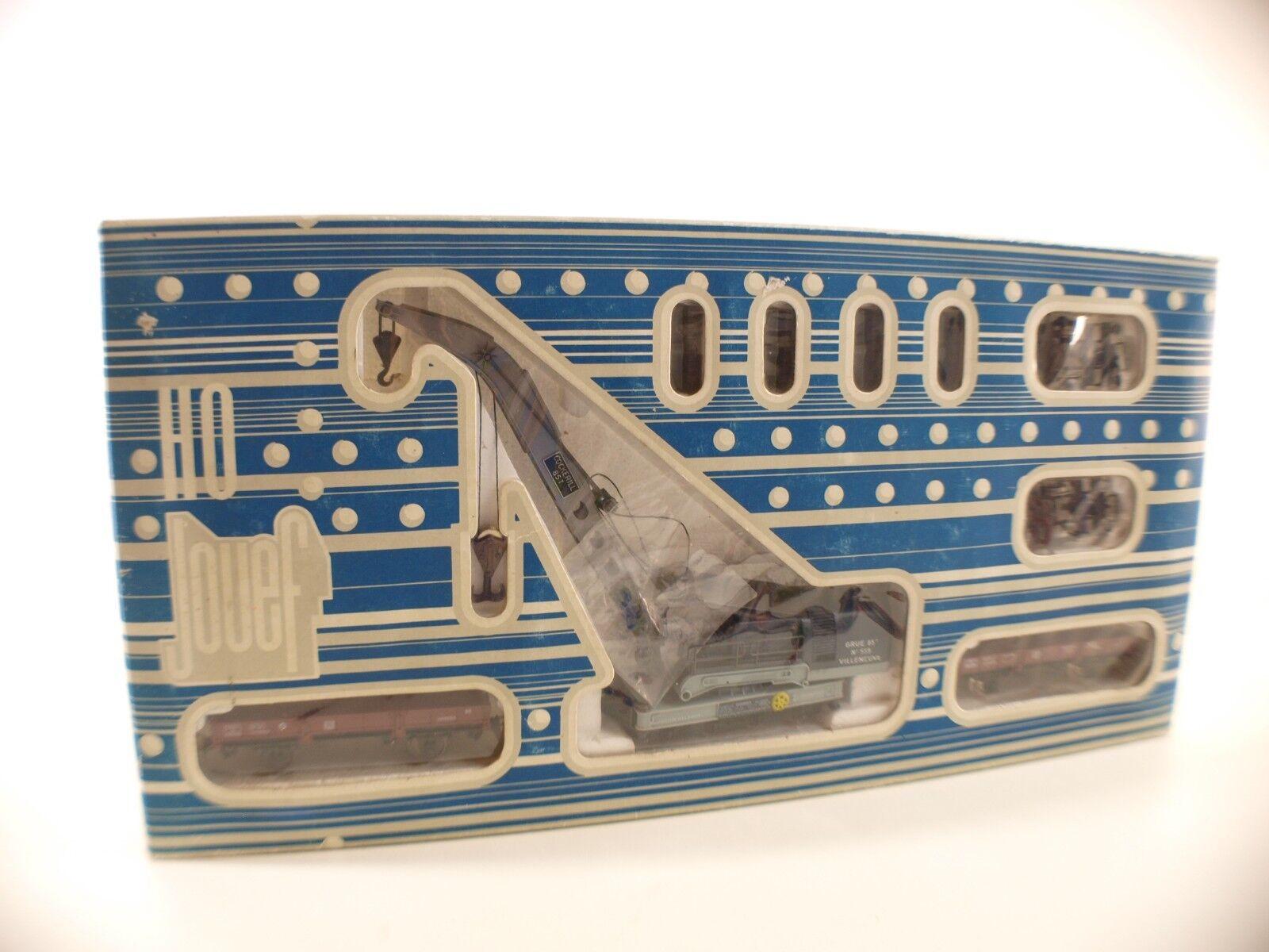 Jouef Ho N º 6963 Caja Tren Grúa Villeneuve Cockerill 85t Nuevo Caja MIB