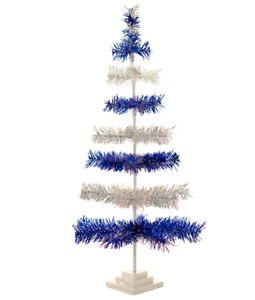 36/'/' White Christmas Tinsel Tree Tabletop Centerpiece Decorative Holiday 3FT