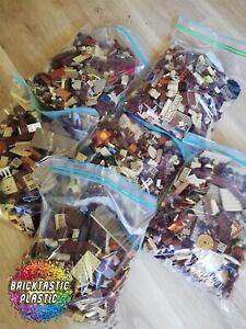 LEGO-x850pcs-1KG-Wild-West-Cowboy-amp-Indian-Rare-MOC-part-Packs-Bulk-Lots
