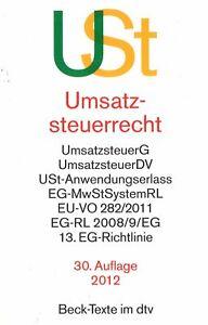 Beck: Tva Droit (30. édition. 2012)-cht (30. Aufl. 2012)afficher Le Titre D'origine