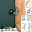 Hafele Sprung Glass Door Hinge 92° For Overlay//Inset Doors With Round Cover Cap