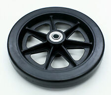 "Rollator Walker Parts 6"" Front Rear Wheel Black Karman C46-bk 1 PC"