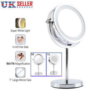 5x 7x Magnifying Mirror With Led Lights For Make Up