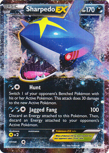 Engli 1 x Pokemon Sharpedo-EX Holo Rare EX XY—Primal Clash NM-Mint 91//160