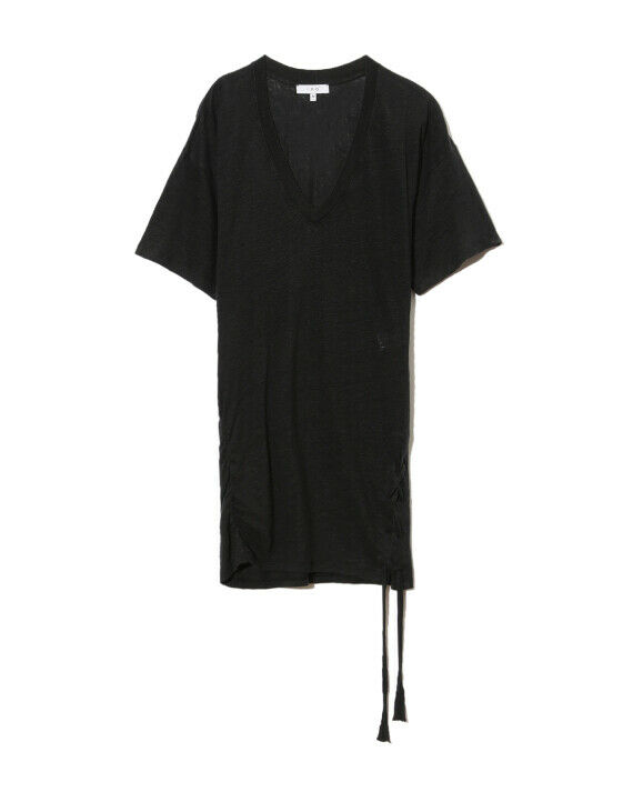 IRO-Short Dress M Short Model keraba Linen Black Size S = 36-NEW
