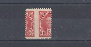 #233 huge vertical mis-perf, 3 cent mufti 1937 issue Canada mint