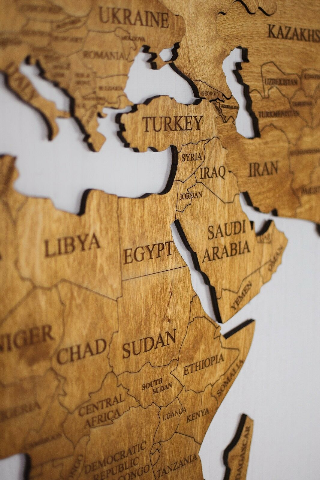Wood Wall Art Wall Map of of of the World Map Wooden Travel ...