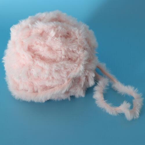 32 M fashion en fourrure synthétique Chunky Fil de Laine Pour Tricot Et Crochet projet Rose
