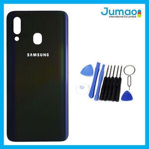 Vitre-arriere-capot-cache-batterie-Noir-avec-Adhesif-Pour-Samsung-Galaxy-A40