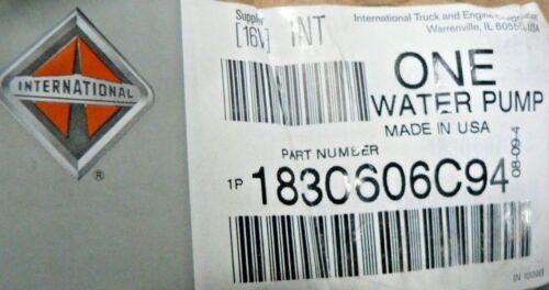 GENUINE INTERNATIONAL  WATER PUMP 1830606C94 OEM MaxxForce 10 engine with 375 hp