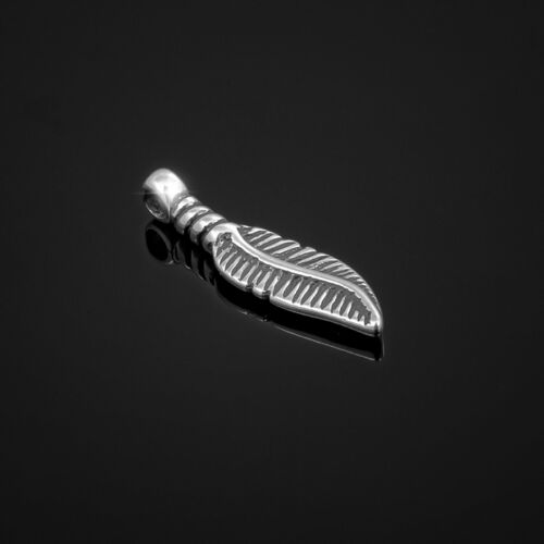 21 mm pack de 1 K106//10 925 Sterling Argent Incurvé Feather Charm Pendentif