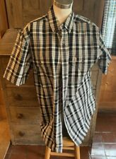 NWT Men Carhartt Short Sleeve S//S Button Front 102535 Plaid Check Shirt Relaxed