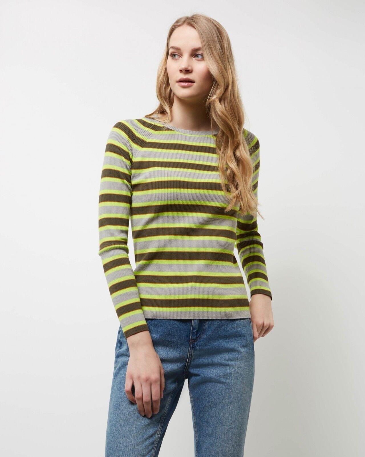 Jaeger Rib Stripe Neon Sweater Multi Size XL rrp  DH081 DD 11