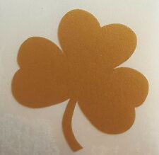 REFLECTIVE gold Notre Dame Fighting Irish shamrock 1.75 inch fire helmet decal