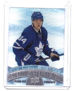 Auston-Matthews-2017-18-Upper-Deck-Tim-Hortons-Clear-Cut-Phenoms-Card-CCP-14
