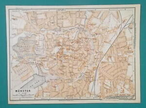 Dortmund On Map Of Germany.1936 Map Germany German Reich Munster Dortmund Town City Plans