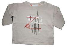 Mexx tolles Sweatshirt Gr. 62 beige mit Druckmotiv !!