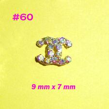 Nail Art 3D Metal Alloy Bling Rhinestone Crystal Logo Decoration 10pc #60