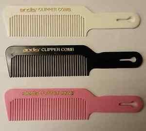 ANDIS-Clipper-Barbiere-Pettine-Nero-Bianco-Rosa-per-la-miscelazione-Rastremazione-Flat-Top
