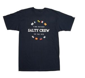 NEW SALTY CREW ROCKS N DOCKS MEN/'S NAVY T SHIRT SMALL CODE LL126 FISH SAIL DIVE