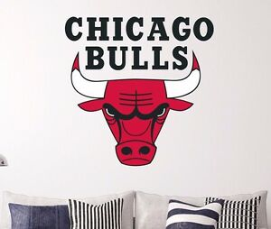 Chicago Bulls Logo Wall Decal Decor Sticker Sports Car Window Door - Window stickers for cars chicago