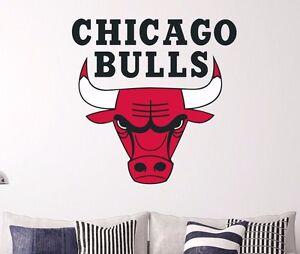Chicago Bulls Logo Wall Decal Decor Sticker Sports Car Window Door - Window stickers for cars chicago
