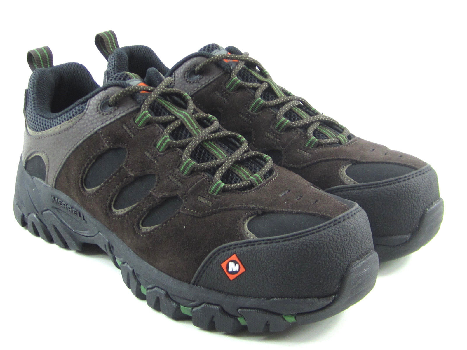 MERRELL Ridgepass Men's Brown Leather Work shoes Composite  Toe Size 7.5 J15859  welcome to choose