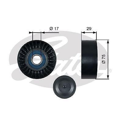 GATES T36462 Deflection//Guide Pulley v-ribbed belt