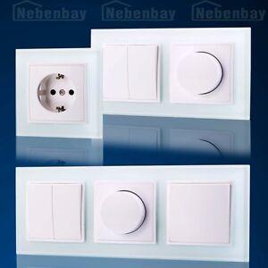 steckdosen ausschalter wechselschalter glas rahmen. Black Bedroom Furniture Sets. Home Design Ideas