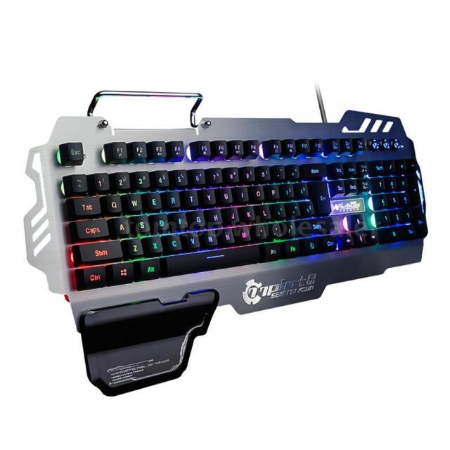 1cba8f1c391 PK900 Gaming Keyboard Backlight Mechanical 104 Keys Durable for Win7/10 Mac  D0E5