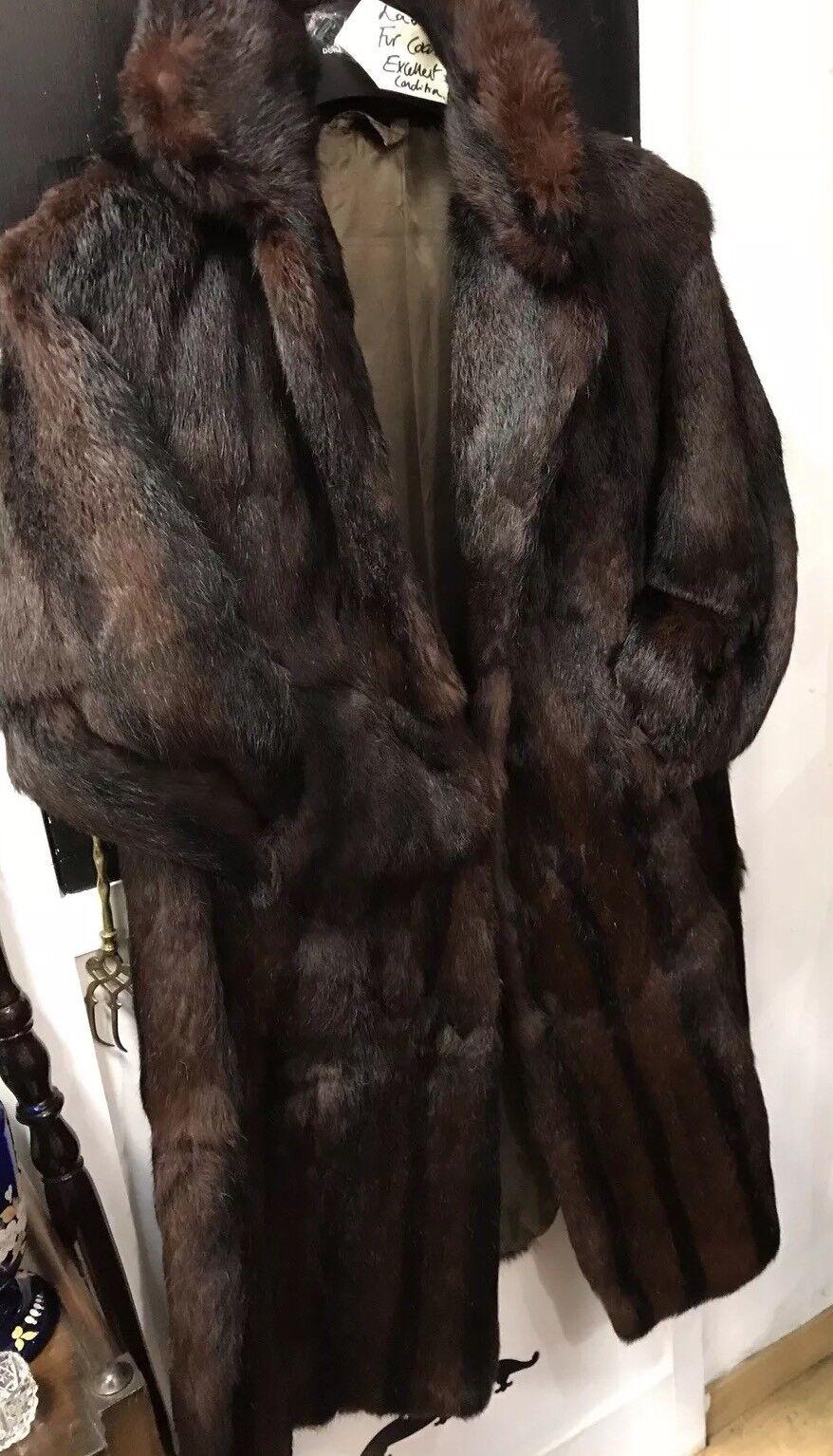 Beautiful  Real Fur 3 4 Length Coat  Size 10-14