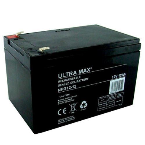 ULTRAMAX NPG12-12, 12V 12AH (as 15Ah) BAIT BOAT GEL BATTERY - 45% more bait time