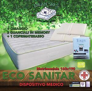 Dettagli su MATERASSO MEMORY MATRIMONIALE 160x190 DISPOSITIVO MEDICO -  MIGLIOR PREZZO!