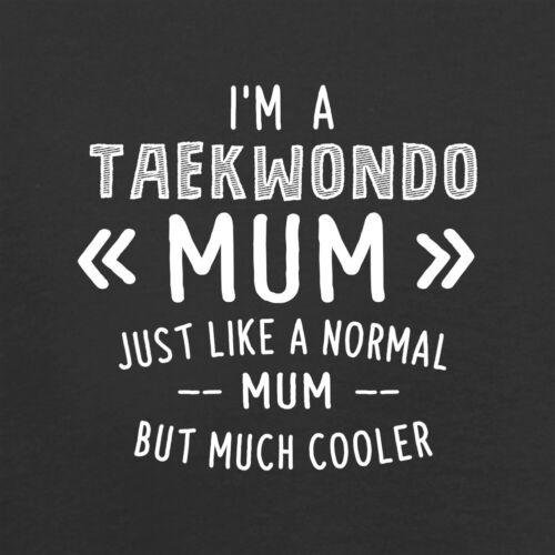 Je suis un Taekwondo Maman-Sweat à capuche//Hoody-Art Martial-exercice-Fête Mères