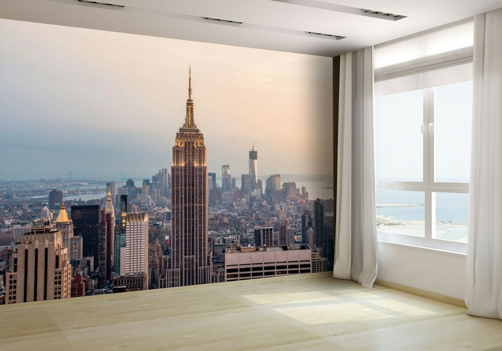 New York Skyline with Skyscrapers Wallpaper Mural Photo 18166706 budget paper