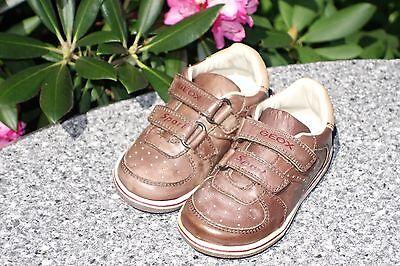 319651e38d3861 Geox Sport Lauflern Schuhe Sneakers Jungen Halbschuhe Klett Leder Gr.21 Neu  ...