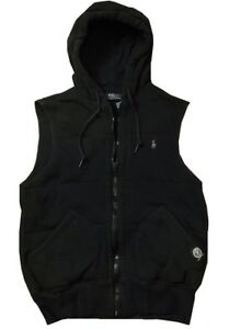 NEW-RALPH-LAUREN-POLO-PUFFER-QUILTED-FLEECE-ZIP-GYM-ATHLETIC-HOODED-VEST-XL