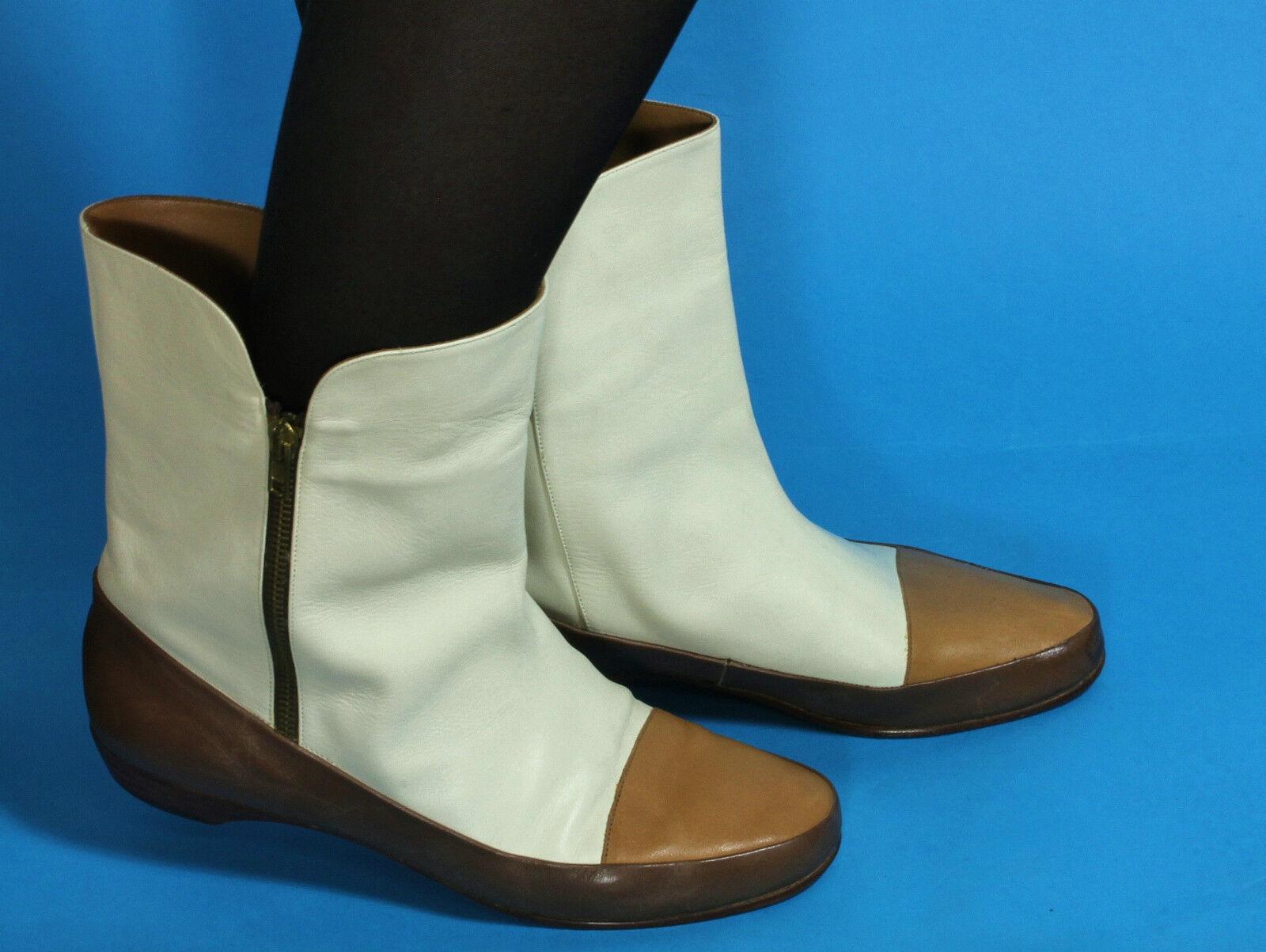 Lederstiefel Vintage Gibal Damenstiefel Stiefel Blogger Hipster Zipper Leder 38