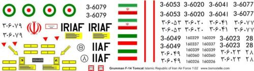 Grumman F-14Tomcat Iran AF decal 1\72