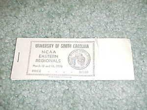 1970 NCAA Final Four Basketball Ticket East Regional Ticket Brochure