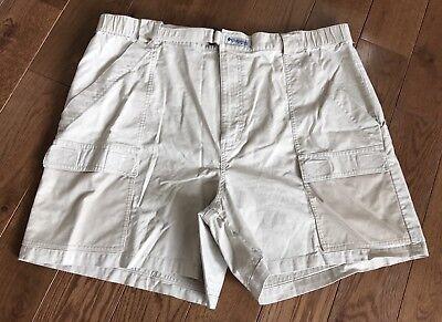 c20283b7b5 Men's Columbia PFG Fishing Gear Shorts Tan Khaki Mesh Pockets XL   eBay