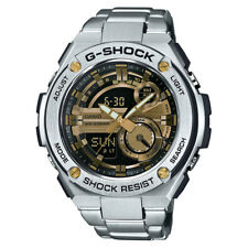 Casio G-Steel Men's GST210D-9A Super Illuminator Silver-Tone Bracelet Watch