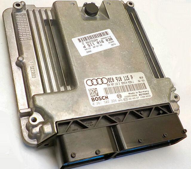 05 06 07 08 Audi A4 B7 ECM ECU 2 0l 8E0910115P PROGRAMMED Immobilizer Immo  off