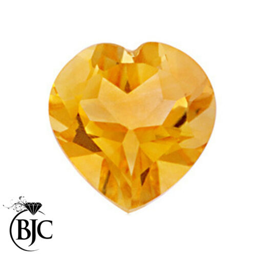 11mm BJC® Loose Natural Yellow Citrine Love Heart Cut Stones Sizes 4mm