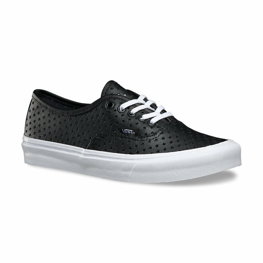 Vans AUTHENTIC SLIM femmes chaussures (NEW) Perf Stars noir Tailles 6-10 FREE SHIPPING