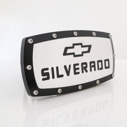 Chevrolet Silverado Black Trim Chrome Billet w// Allen Bolts Tow Hitch Cover