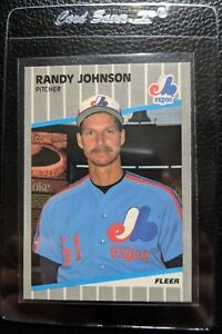Details About 1989 Fleer 381 Randy Johnson Rookie Card Rc Expos Mariners Blacked Out Hof Mint