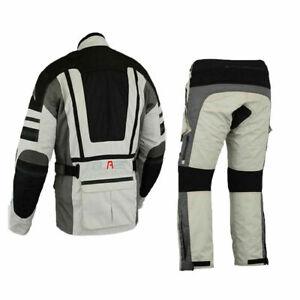 Combinata-moto-biker-moto-tessile-station-wagon-impermeabile-Giacca-e-Pantaloni-m-5xl