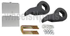 "Lift Kit Chevy Black Torsion Keys 3"" Aluminum Blocks 99-06 Silverado Sierra 4x4"